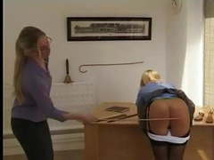 Femdom office spanking movies at freekilomovies.com