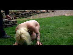 Outdoor bdsm torments humiliation of chained slave olivia movies at freekiloclips.com