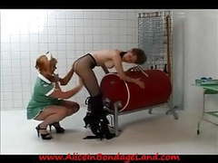 Prison lesbian medical exam & bondage humiliation punishment movies at freekiloclips.com