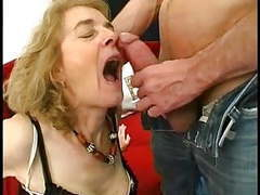 Gaping anal granny in stockings fucks three tubes