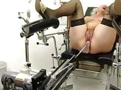 Granny norma works out on a sex machine tubes