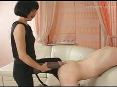 Hot lady fucks her slave with a real big strapon videos