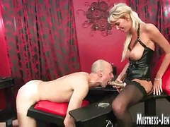 Tall leggy blonde dominatrix strapon and fucking videos