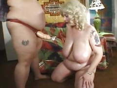 Two bbw lesbian in action strapon movies