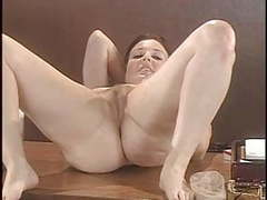 Lorna morgan strips her lingerie and poses on the desk movies at find-best-hardcore.com