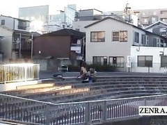 Subtitled extreme japanese public nudity outdoor blowjob movies at freekiloporn.com