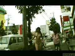 Subtitled japanese public nudity striptease in tokyo movies at sgirls.net