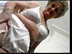 Chubby old granny strips and plays movies at nastyadult.info