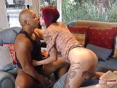 Sexy tatoo girl takes bbc 2 tubes