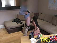 Fakeagentuk hot amateur tattooed babe wants to be a star movies at kilotop.com