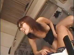 Asian student ties up her teacher tubes