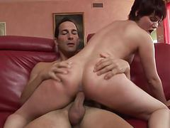 Short hair slut gets nailed on the sofa by a hunk movies at kilogirls.com