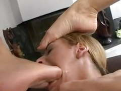 Lesbian foot slave used by one mistress and two mistress movies at kilomatures.com