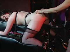 Horny mistress enjoying with her slave girl movies at kilomatures.com