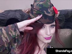 Horny cougar shanda fay cleans & fires her soldier's rifle! videos