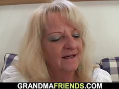 Threesome with boozed blonde granny movies at find-best-babes.com