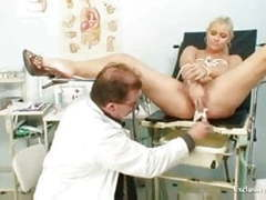 Busty alexa bold gyno exam and tits bondage at kinky clinic clip