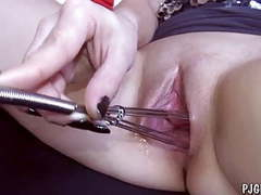 Denisa wide open pussy gaping close-ups gyno tool videos