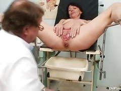 Skinny milf weird pussy fingering by gyno doctor videos
