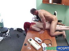 Fakehospital cute redhead rides doctor for cash videos