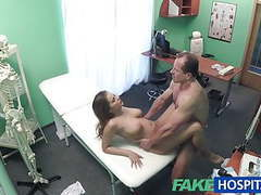Fakehospital big tits babe has a back problem clip
