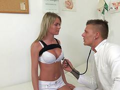 Doctor probes patients pussy with his cock for best test res videos