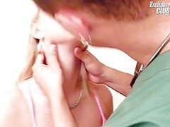 Blonde petra visiting her gyno doctor for pussy speculum videos