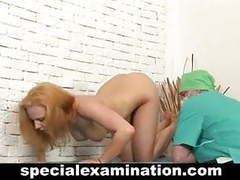 Sexy redhead gets gyno examination videos