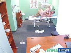 Fakehospital sexy horny blonde milf wants doctors cum inside videos