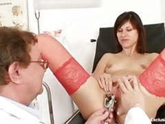 Kinky gyno doctor fingers pussy of hot brunette movies at find-best-videos.com