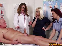 Cfnm doctor babe teaches nurses how to suck videos