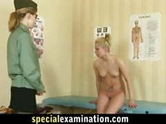 Shocking gyno exam for shy blonde babe videos