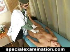 Blonde babe gets gyno exam videos