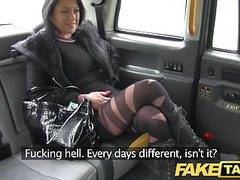 Fake taxi local escort fucks taxi man on her way to a client videos