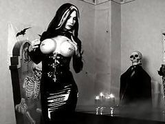 Black latex gothic lady movies