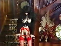 Lucky number - vintage goth in stockings dances and teases movies at kilogirls.com