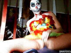 Shaye rivers halloween clown masturbation movies