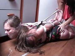Hogtied on the boat tubes