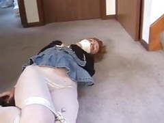 Hogtied by intruder videos