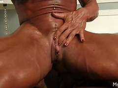 Musclefoxx and her big clit tubes