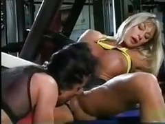 Muscle lesbian workout movies at kilovideos.com