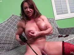 Naked female bodybuilder brandimae pumps her big clit movies at find-best-lingerie.com