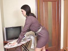Hairy milf kristina ray does the household chores tubes