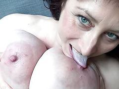 Euro milf with macromastia hanging breasts movies