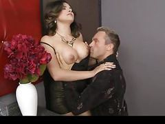 Danica dillan shows him her big tits & lets him suck on them tubes