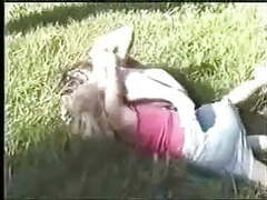 Catfight on grass movies at freelingerie.us