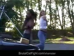 Rough catfight at a carwash movies at freekiloporn.com