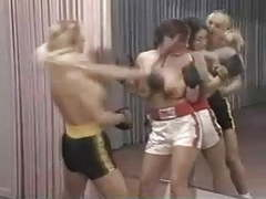 Lesbian topless boxing movies at freekiloporn.com