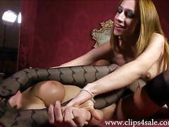 Df002-nude super stinky nylon stockings wrestling foot fight videos