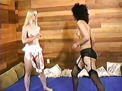 Retro strip wrestling clip